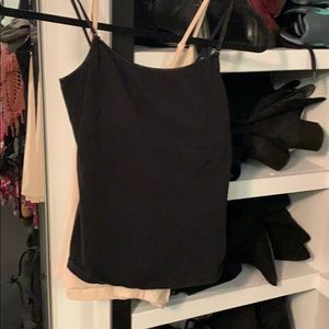 Black and nude camisole